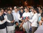 لاہور: تحریک انصاف کے یکم مئی کے جلسے کے چیف کوآرڈینیٹر عبدالعلیم خان ..