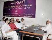 لاہور: امیر تحریک رحمت خواجہ محمد اسلم سود کی تباہ کاریوں پر لیکچر دے ..