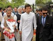 پشاور: چیئرمین پاکستان تحریک انصاف عمران خان کے پی انڈر 23گیمز کی افتتاحی ..