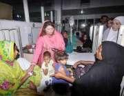 فیصل آباد: الائیڈ ہسپتال میں نائب صدر پنجاب انسانی حقوق پی پی پی سیدہ ..