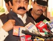 لاہور: پنجاب اسمبلی کے اجلاس کے موقع پر صوبائی وزیر قانون رانا ثناء ..