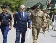 چکوٹھی: او آئی سی کے خصوصی نمائندہ عبداللہ العلیم لائن آف کنٹرول کا ..