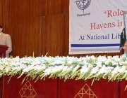 اسلام آباد: چیئرمین نیب امتیاز تاجوار نیشنل لائبریری میں سیمینار سے ..