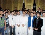 پشاور: خیبر پختونخوا ٹیم کے کھلاڑیوں کا اسمبلی دورہ کے موقع پر اسپیکر ..