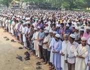 ڈھاکہ: ہزاروں لوگ شہید مولانا مطیع الرحمن نظامی کی غائبانہ نماز جنازہ ..