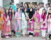 لاہور: شعبہ ابلاغایات پنجاب یونیورسٹی کے طلباء کے وفد کا وائس چیئرمین ..