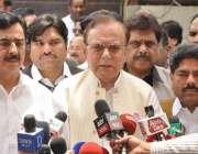 لاہور: پیپلرز پارٹی کے رہنما میاں منظور احمد وٹو کا گیلانی ہاؤس میں ..