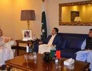 لاہور: پیپلز پارٹی کے چیئرمین بلاول بھٹو زرداری سے پیپلز پارٹی کے رہنما ..