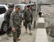 خیبر ایجنسی: میجر جنرل شاہین مظہر پاک افغان بارڈر پر طورخم کے مقام پر ..