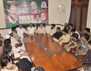 اسلام آباد: پی ٹی آئی کے مرکزی رہنما زاہد حسین کاظمی کینٹ کے ورکرز اجلاس ..