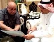 اسلام آباد: سعودی سفیر عبداللہ الزہرانی سے ملاقات کے دوران وائس چانسلر ..