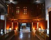 لاہور: عالمی میوزیم ڈے کے موقع پر لاہور میوزیم کا خوبصو رت منظر۔