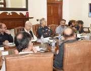 لاہور: انسپکٹر جنرل پولیس پنجاب مشتاق احمد سکھیرا ویڈیو لنک آر پی او ..