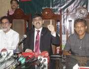لاہور: پاکستان قومی اصلاح موومنٹ کے چیئرمین بریگیڈیئر (ر) نادر میر پریس ..