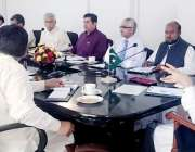 لاہور: صوبائی وزیر راجہ اشفاق سرور محکمہ لیبر سوشل سیکیورٹی اور پنجاب ..
