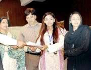 لاہور: مسلم لیگ (ن) کے رکن پنجاب اسمبلی ماجد ظہور گورنمنٹ کالج کوپر روڈ ..