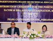 پشاور: خیبر پختونخوا بورڈ آف ٹیکنیکل ایڈوکیشن کے زیر اہتمام ایوارڈ ..