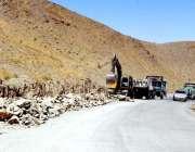 کوئٹہ: چمن روڈ پر کوژک کا ترقیاتی کام جاری ہے۔