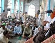 راولپنڈی: ڈسٹرکٹ خطیب حافظ اقبال رضوی رمضان المبارک کے پہلے جمعہ کے ..