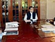 پشاور: گورنر خیبر پختونخوا ظفر اقبال جھگڑا ٹی ڈی پیز سے متعلق اجلاس ..