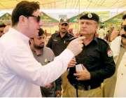 لاہور: صوبائی وزیر خوراک بلال یاسین داتا نگر رمضان بازار میں سیکیورٹی ..