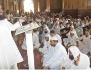 لاہور: بادشاہی مسجد کے خطیب مولانا عبدالخبیر آزاد رمضان المبارک کے ..