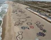 لاس اینجلس: پلاسٹک سے سمندروں کی حفاظت کے لیے چار ہزار بچے اپنے فن کا ..