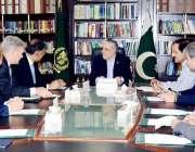 اسلام آباد: وفاقی وزیر خزانہ سینیٹر اسحاق ڈار سے آر ایف سی کا وفد ملاقات ..