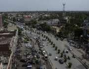 لاہور: علامہ اقبال ٹاؤن مین بلیوارڈ کا خوبصورت منظر۔