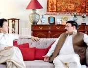 اسلام آباد: چیئرمین پاکستان تحریک انصاف عمران خان سے عوامی مسلم لیگ ..