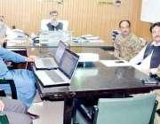 میرپور: جنرل مینجر واپڈا منگلا سید ریاض شاہ موم سون کی بارشوں اور ممکنہ ..