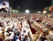 لاہور: پاکستان عوامی تحریک کے سربراہ ڈاکٹر طاہرالقادری شہر اعتکاف ..