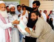 ایبٹ آباد: مولانا عبدالواجد لوکل این جی او کے زیر اہتمام مستحقین میں ..