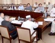 پشاور: وزیر اعلیٰ خیبر پختونخوا پرویز خٹک ایک اجلاس کی صدارت کر رہے ..
