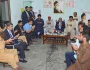 لاہور: گورنر پنجاب ملک محمد رفیق رجوانہ لاہور میں ایدھی ہیڈ آفس کے دورہ ..