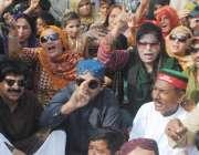 حیدر آباد: پیپلز پارٹی ضلع حیدر آباد کی طرف سے وادھوابائی پاس پر حیسکو ..