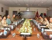 لاہور: رینجرز ہیڈ کوارٹر میں پنجاب رینجرز اور بھارتی بارڈر سیکیورٹی ..