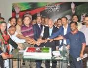 لاہور: صابق صدر آصف علی زرداری کی 61ویں سالگرہ کے موقع پر بلاول ہاؤس ..