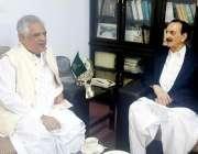 اسلام آباد: سینیٹ میں میں قائد ایوان راجہ ظفر الحق سے گورن خیبر پختونخوا ..