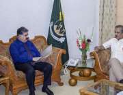 اسلام آباد:وزیر اعلیٰ بلوچستان نواب ثنا ء اللہ خان ظہیری سے چیئرمین ..