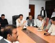 لاہور: تحریک انصاف کے چیئرمین عمران خان سنٹرل پنجاب کی آرگنائزنگ کمیٹیوں ..
