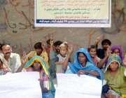حیدر آباد: یو سی 16لطیف آباد کے رہائشی زمین پر قبضے کے خلاف احتجاجی مظاہرہ ..