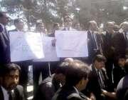کوئٹہ: سانحہ 8اگست کے خلاف کچری بار اور ہائیکورٹ بار ایسوسی ایشن کے ..