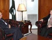اسلام آباد: وزیر اعظم کے مشیر برائے خارجہ امور سرتاج عزیز سے سویڈن کی ..