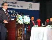 اسلام آباد: چیرمین نیب قمر زمان چوہدری کرپشن بارے منعقدہ سیمینار سے ..