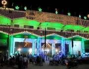 حیدر آباد: عید ملاد النبی(ص) کے حوالے سے لطیف آباد گیٹ کو خوبصورت لائٹوں ..