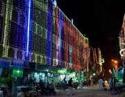 حیدر آباد: عید ملاد النبی(ص) کی مناسبت سے ایک عمارت کو خوبصورت لائٹوں ..