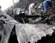 اسلام آباد: حویلیاں کے قریب طیارہ حادثہ کے بعد امدادی کاروایا جاری ..