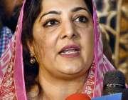 اسلام آباد: وزیر مملکت برائے انفارمیشن ٹیکنالوجہ مسز انوشہ رحمان میڈیا ..