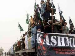 CHAMAN: Chaman Muttahida Qabil train March Chaman to Quetta for solidarity with Kashmiri people.